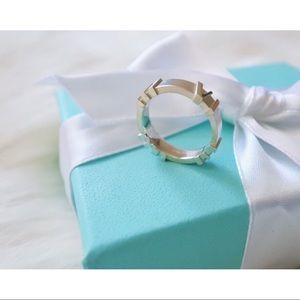 Tiffany & Co. Roman Atlas Ring Size 5